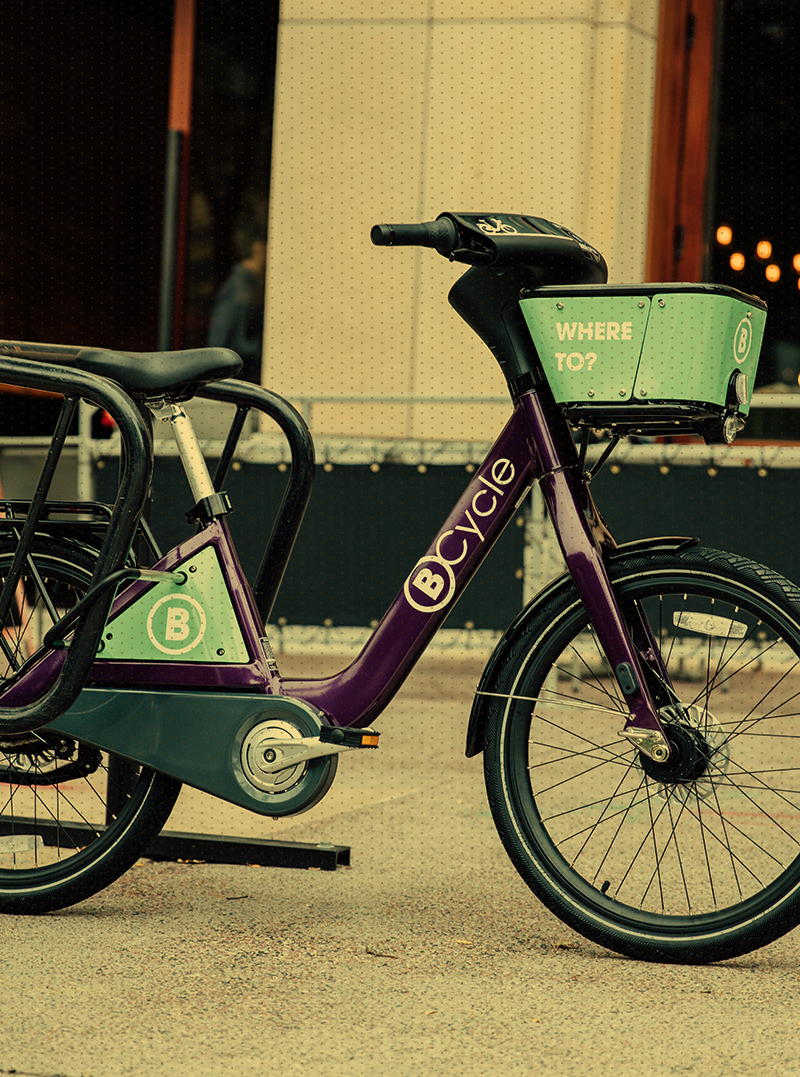BCycle on street