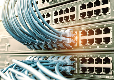 Electrical cords in router