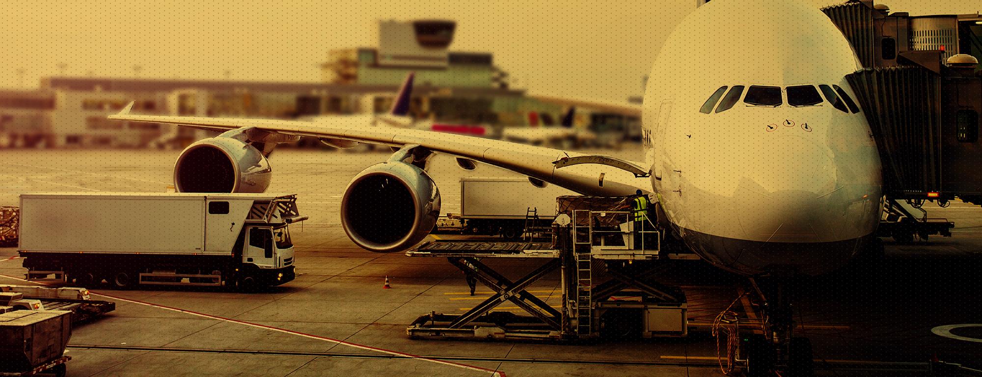 Plane being maintenance